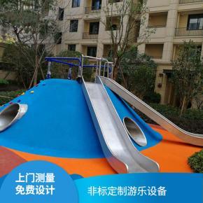 不锈钢钻洞小区儿童必威体育娱乐客户端设备户外不锈钢滑梯组合滑梯儿童乐园玩具